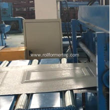 Garage door panel punching roll forming machine